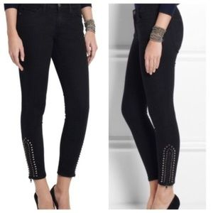 CURRENT/ELLIOTT | Studded Zip Stiletto Skinny Jean
